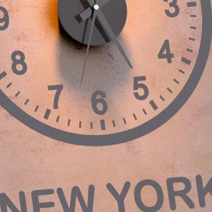 Orologio da parete fusi orari world clock x 3
