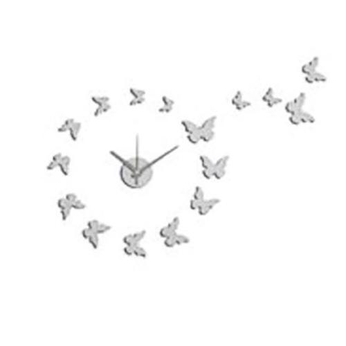Orologio farfalle da parete adesivo componibile bianco for Orologio da muro farfalle