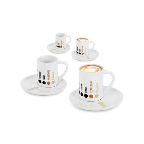 Tazzine caffè Barista set di 4 pz. in ceramica