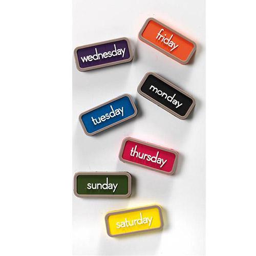 Set 7 magneti Days colorati giorni della settimana