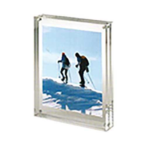 Portafoto Candy magnetico trasparente da tavolo
