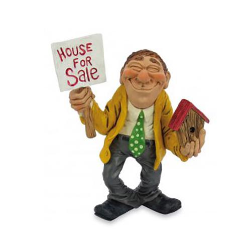 Statuine Caricature Mestieri Agente Immobiliare