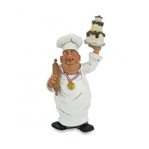 Statuine Caricature Mestieri Chef, Cuoco, Pasticciere