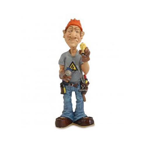 Statuine Caricature Mestieri Elettricista