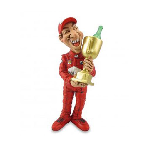 """Statuina, caricatura mestiere, professione """"Pilota con Trofeo"""""""