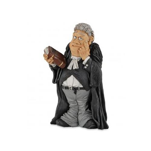 Statuine Caricature Mestieri Uomo di legge, Giudice