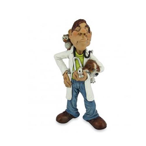 Statuine Caricature Mestieri Veterinario