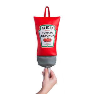 Dispenser porta sacchetti da plastica Ketchup