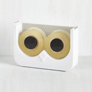 Dispenser OWL porta nastro adesivo doppio a forma di gufo