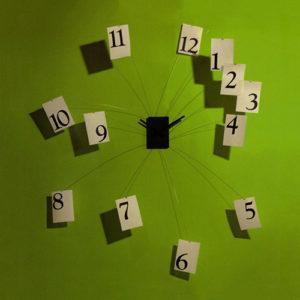 Orologio da parete Il tempo Vola di Progetti