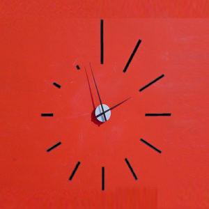 Orologio componibile Spirale adesivo da parete