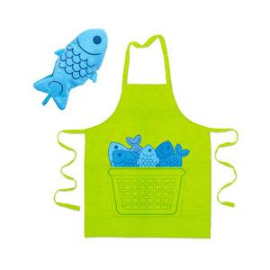 """Grembiule da cucina con guantone """"Blue Fin"""""""