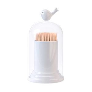 Porta stuzzicadenti e dispenser cotton fioc a forma di uccellino