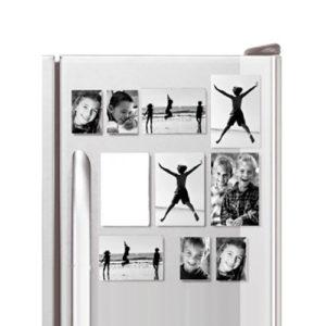 Set 10 portafoto magnetici in plastica di varie misure