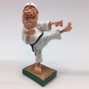 Statuina, caricatura mestiere, professione Karateca Arti Marziali