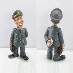 Statuina, caricatura mestiere, professione Finanziere