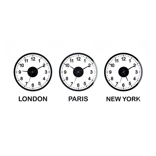 Orologio fusi orari World Clock x 3 orologi da parete