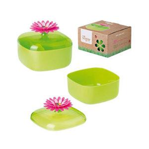 Scatola contenitore con coperchio Flower Power Vigar