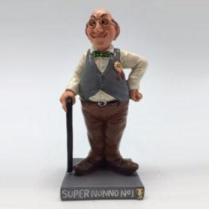 Statuina caricatura mestiere super nonno n.1