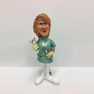 Statuina caricatura mestiere dentista donna
