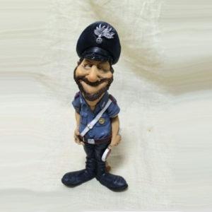 Statuina caricatura mestiere carabiniere