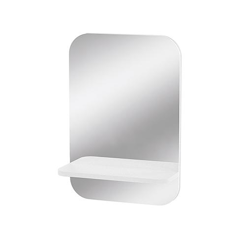 """Specchio da parete con mensola portachiavi """"After Ego"""" bianco"""