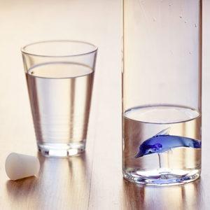 """Bottiglia """"Dolphin"""" delfino 1,2 l. vetro borosilicato"""