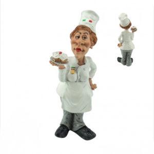 SStatuina, caricatura mestiere, professione Master Chef donna Pasticcera