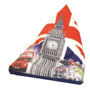 "Poltrona sacco, pouf, seduta imbottita ""Londra"" in tela"