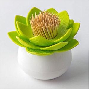 porta stuzzicadenti e porta cottonfiocc lotus a forma di fiore di loto