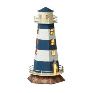 Lampada da tavolo Faro marino luminoso in metallo