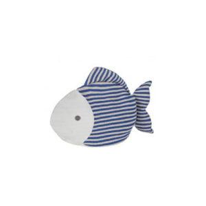 Fermaporta a forma di pesce imbottito in tessuto