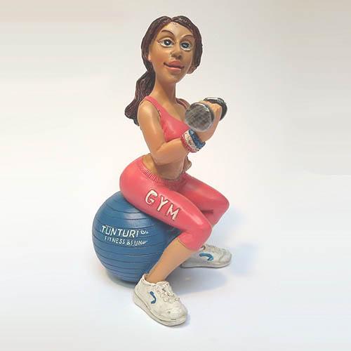 Statuetta-Personaggio-palestrata-Fitness-Caricatura-Mestieri-Da
