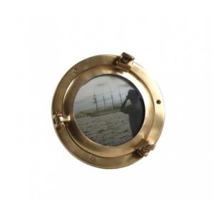 Portafoto Oblò nautico da tavolo in ottone