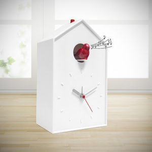 Orologio sveglia Cucu bianco da tavolo o parete
