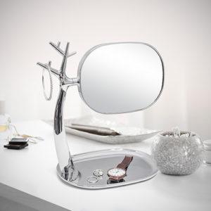 Specchio trucco Nature x 3 cromato