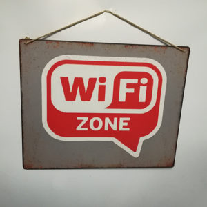 """Targhetta metallo """"Wi-Fi Zone"""""""