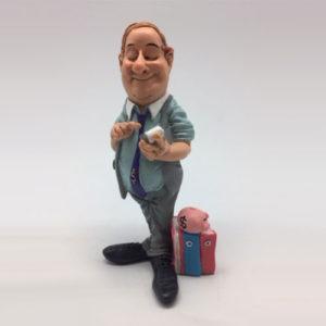 """Statuina, caricatura mestiere, professione """"Boss Manager, Banchiere, Uomo d'affari"""""""
