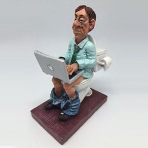 """Statuina, caricatura mestiere, professione """"Informatico"""""""