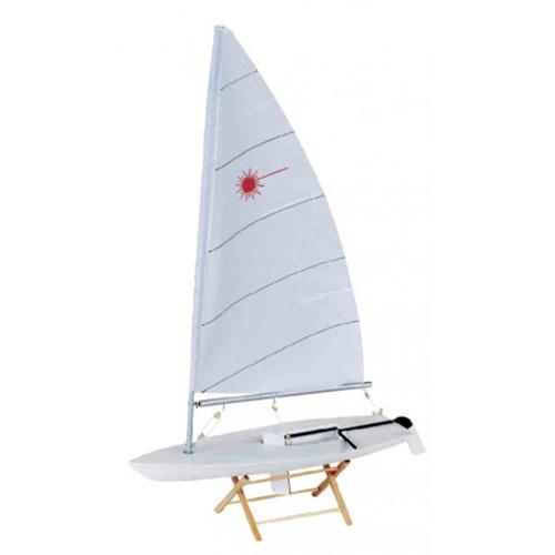Barca a vela Laser in legno laccato