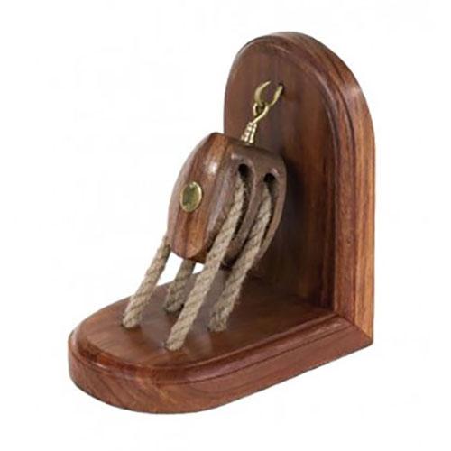 Fermalibri Fermaporta Bozzello in legno e canapa