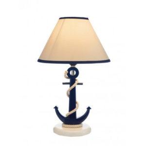 Lampada Ancora da tavolo in legno stile nautico