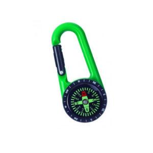 Portachiavi bussola con moschettone verde