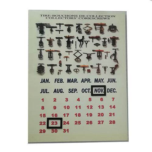 Calendario perpetuo Tire-Bouchon in metallo