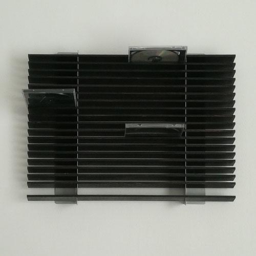 Porta CD da parete per 72 CD in legno scuro - Arridea