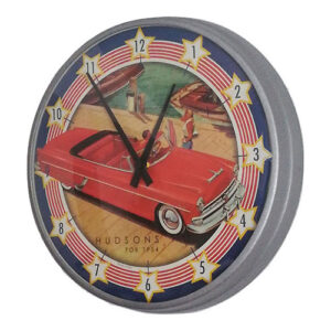 Orologio vintage Hudsons da parete in metallo