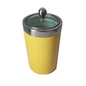 Barattolo da cucina in ceramica giallo