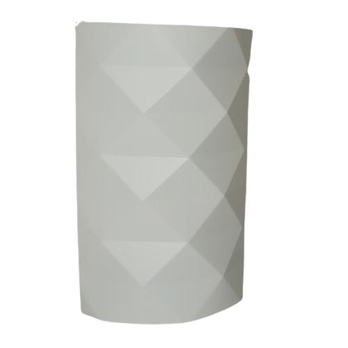 Applique lampada da parete Prisma bianca