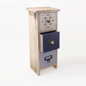Mini cassettiera Mixed con 3 cassetti in legno da tavolo