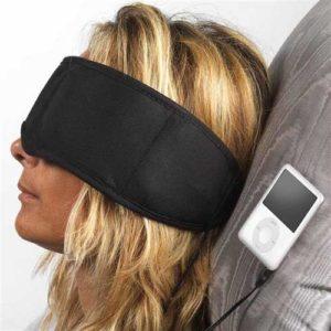 Mascherina Relax con cuffie per MP3